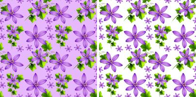 Seamless background design with purple flowers vector