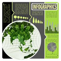 An infographics of the world