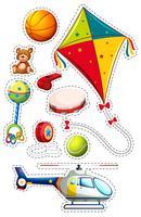 Aufklebersatz mit vielen Spielsachen