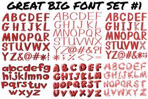 Engelse lettertypen in rood vetgedrukt