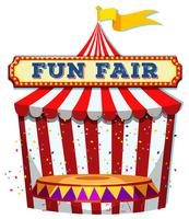 A Fun Fair Tent on White Background