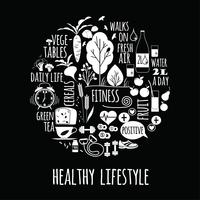 Healthy lifestyle vector illustration.