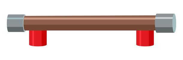 Una barra de equilibrio para juegos infantiles.