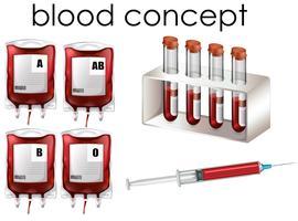 Blodkoncept på vit bakgrund