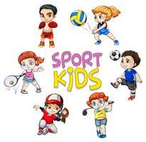 Sport atlet karaktär på vit bakgrund