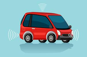 A red electric car