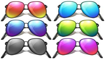 Conjunto de diferentes modelos de óculos de sol