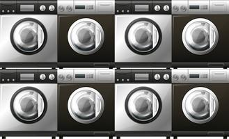 Washing machines in black and white