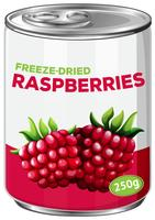 can of freeze dried raspberries