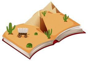 Open book desert theme
