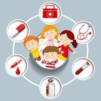 Barn och medicinska symboler