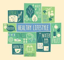 Healthy lifestyle Icons set
