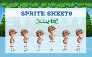 Boy sprite sheets jumping