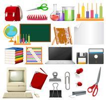 Een set van schoolelement