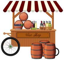 Wine shop on white background