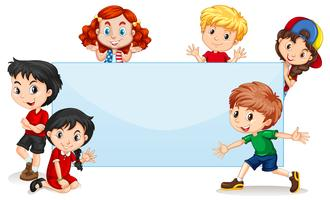 International kids blank banner vector