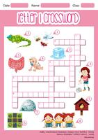 Letter I crossword worksheet
