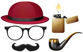 Male fashion with many accessories