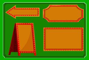 Olika konstruktioner av tecken med röd kant