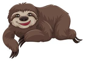 Sloth with happy face