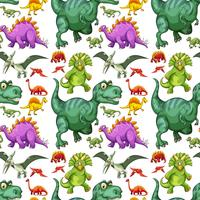 Various types of dinosaur seamless pattern