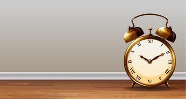 Una plantilla de reloj despertador clásico