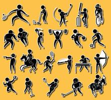 Sticker set met sport pictogrammen
