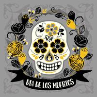 Dia de los muertos. Day of The Dead. Vector design element.