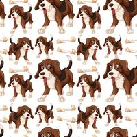 Beagle dog seamless pattern