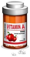 Capsule de vitamine A dans un récipient
