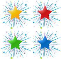 Diseño de iconos con estrellas de diferentes colores.
