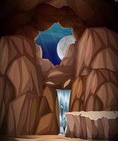 Un paysage de grotte nature