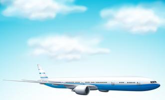 grande avião comercial no céu