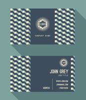 Business card template, vintage retro background with geometric