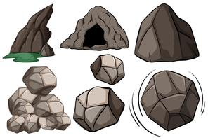 Cueva y rocas