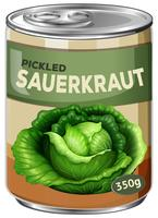 A tin of pickled sauerkraut