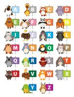 The Alphabet with different animals