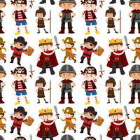 Seamless pattern of children dressed up
