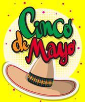 Modelo de cartão para o festival Cinco de Mayo