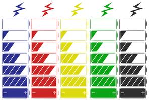 Battery icon in five colors