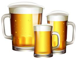 Sizes of Beer Glass vector