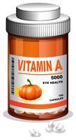 Una botella de vitamina A