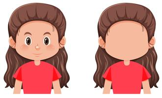 A long hair brunette girl character