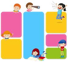 A Note Set with Children vector