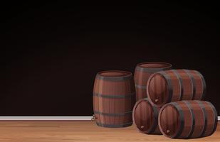 Eine schwarze Vorlage und ein Weinfass