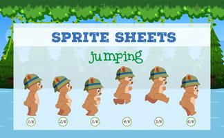 Sprite Sheets ours sautant