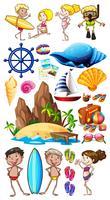Sommer mit Insel und Schwimmer