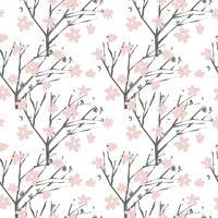 Vector bloemenpatroon in de hand getrokken stijl met bloemen en branc