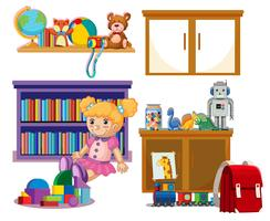 Set of kid toys vector