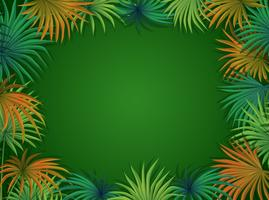 A beautiful palm leaf template